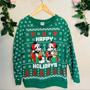 Disney Christmas Sweater Mickey Minnie Juniors
